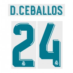 D. Ceballos 24 (Official Real Madrid FC 17/18 Home Name and Numbering)