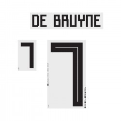 De Bruyne 7 (Official Belgium World Cup 2018 Away Name and Numbering)