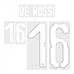 De Rossi 16 (Official Italy World Cup 2018 Home Name and Numbering)