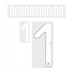 Donnarumma 1 (Official Italy World Cup 2018 Home / Goalkeeper Name and Numbering)
