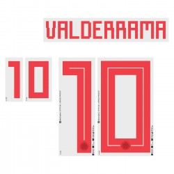 Valderrama 10 (Official Colombia World Cup 2018 Away Name and Numbering)