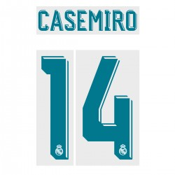 Casemiro 14 (Official Real Madrid FC 17/18 Home Name and Numbering)