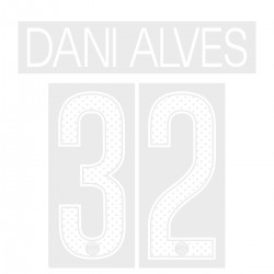 Dani Alves 32 (Official PSG 2017/18 Home UEFA CL Name and Numbering)