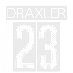 Draxler 23 (Official PSG 2017/18 Home UEFA CL Name and Numbering)