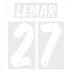 Lemar 27 (Official ASM 17/18 Home & Away Name and Numbering - UEFA Champions League Ver.)