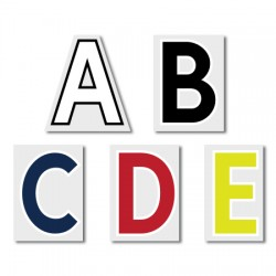 Official The Premier League 49mm Adult Alphabet Printing