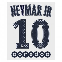 Neymar Jr 10 (Official PSG 2017/18 Away Ligue 1 Name and Numbering)