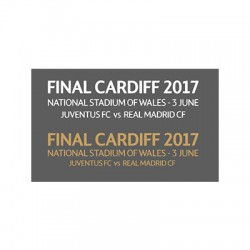 Official UEFA Champions League Final Cardiff 2016/17 Match Details Printing