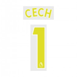 Cech 1 Yellow Special Nameblock Set (For New Premier League Season 2017 Onwards)