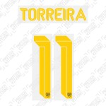 Torreira 11 (Official Arsenal 2019/20 Third Club Name and Numbering)