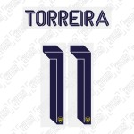 Torreira 11 (Official Arsenal 2019/20 Away Club Name and Numbering)
