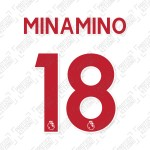 Minamino 18 (Official Liverpool FC English Premier League Away Name and Numbering)