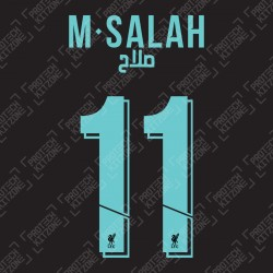 M.Salah 11 Arabic Version (Official Liverpool FC 2019/20 Third Club Name and Numbering)