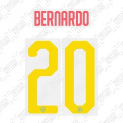 Bernardo 20 - Official Name and Number Cup Printing for Manchester City 19/20 Away Shirt