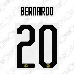 Bernardo 20 - Official Name and Number Cup Printing for Manchester City 19/20 Third Shirt