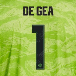 DE GEA 1 (OFFICIAL MANCHESTER UNITED FC 2019/20 3RD GOALKEEPER NAME AND NUMBERING - PLAYER VERSION)