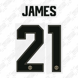 James 21 (Official Manchester United FC 2019/20 Away Name and Numbering - Player Version)