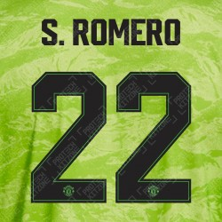 S. ROMERO 22 (OFFICIAL MANCHESTER UNITED FC 2019/20 3RD GOALKEEPER NAME AND NUMBERING - PLAYER VERSION)