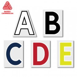 Official The Premier League 49mm Adult Alphabet Printing - Season 19/20 Onwards (by Avery Dennison)