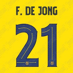 F. De Jong 21 (OFFICIAL FC BARCELONA 2019/20 Cup Competition Away NAME AND NUMBERING - PLAYER VERSION)