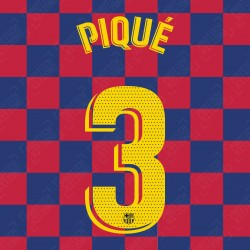Piqué 3 (OFFICIAL FC BARCELONA 2019/20 LA LIGA HOME NAME AND NUMBERING - PLAYER VERSION)