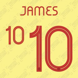 James 10 - Official Name and Number for Colombia 2019 & 2021 Home Shirt