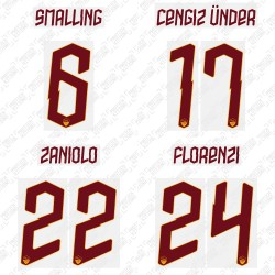 Official Name and Number Cup Printing for AS Roma 19/20 Away Shirt ***(More Players Available)
