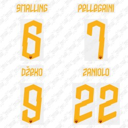 Official Name and Number Cup Printing for AS Roma 19/20 Home Shirt ***(More Players Available)
