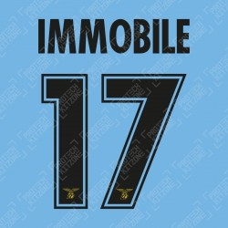 Immobile 17 (Official SS Lazio 19/20 120Y Anniversary & 20/21 UEFA CL Name and Numbering)