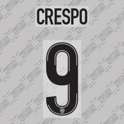 Crespo 9 - Official Name and Number Printing for Parma Calcio 19/20 Home Shirt