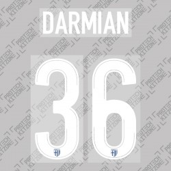 Darmian 36 - Official Name and Number Printing for Parma Calcio 19/20 Away / Third Shirt