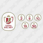 Official Copa Del Ray + Champions Badges