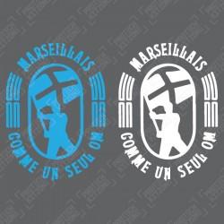 Marseillais comme un seul OM Front Sponsor (For Olympique Marseille 2020/21 Shirt)