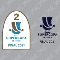 Official Supercopa De España Final 2021 Patch + Match Detail Printing (For Atletico Bilbao 2020/21 Home Shirt)