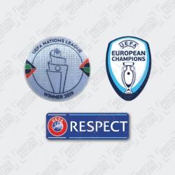 Official UEFA Nation League 2019 Winner Sleeve Badges Set