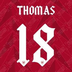 Thomas 18 (Official Arsenal 2020/21 Home Club Name and Numbering)