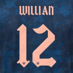 Willian 12 (Official Arsenal 2020/21 Third Club Name and Numbering)