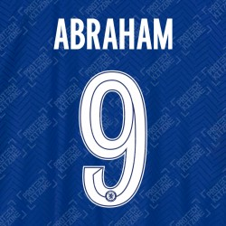 Abraham 9 (Official Name and Number Printing for Chelsea FC 2020/21 Home Shirt)