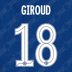 Giroud 18 (Official Name and Number Printing for Chelsea FC 2020/21 Home Shirt)