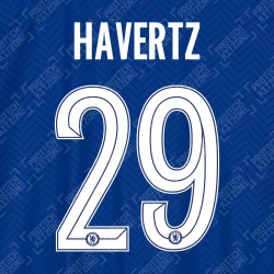 Havertz 29 (Official Name and Number Printing for Chelsea FC 2020/21 Home Shirt)