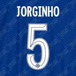Jorginho 5 (Official Name and Number Printing for Chelsea FC 2020/21 Home Shirt)