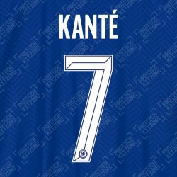 Kanté 7 (Official Name and Number Printing for Chelsea FC 2020/21 Home Shirt)