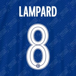 Lampard 8 (Official Name and Number Printing for Chelsea FC 2020/21 Home Shirt)