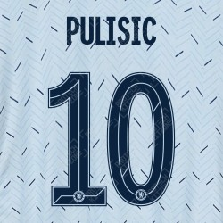 Pulisic 10 (Official Name and Number Printing for Chelsea FC 2020/21 Away Shirt)