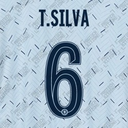 T.Silva 6 (Official Name and Number Printing for Chelsea FC 2020/21 Away Shirt)