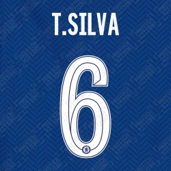 T.Silva 6 (Official Name and Number Printing for Chelsea FC 2020/21 Home Shirt)