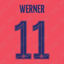 Werner 11 (Official Name and Number Printing for Chelsea FC 2020/21 Third Shirt)