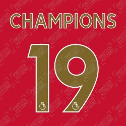 Champions 19 (Official Liverpool FC English Premier League Gold Name and Numbering)