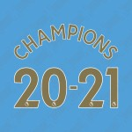 Official Champions 20-21 (Official Manchester City English Premier League Gold Name and Numbering)