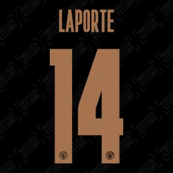 Laporte 14 (Official Name and Number Printing for Manchester City 2020/21 Away Shirt)